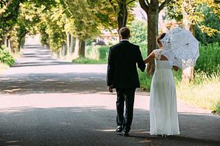 die Braut und der Bräutigam in Hamburg